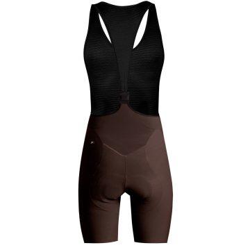 dámske cyklistické nohavice čokoláda