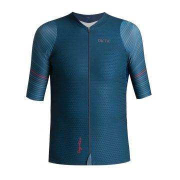 cyklistický dres krátky tmavo modrý leith