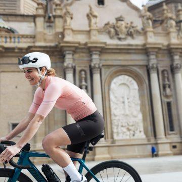 dámsky cyklistický dres ružový