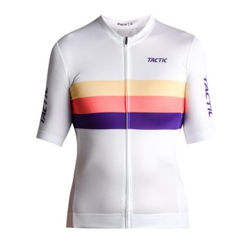 dámsky cyklodres woman cycling jersey Tactic HQ white