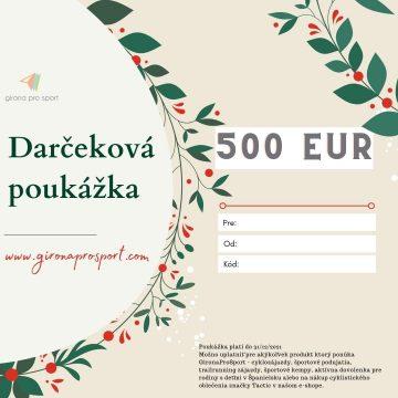 darčeková poukážka 500eur